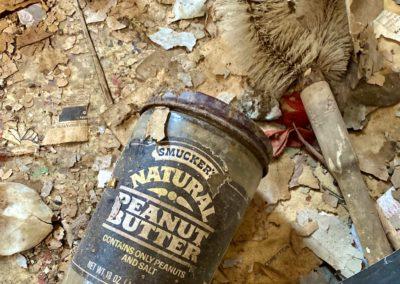 vintage smuckers natural peanut butter jar