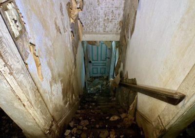 farmhouse staircase looking down