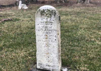 tall tombstone with round top