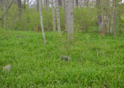 Abandoned Cemetery in the Woods in Ohio