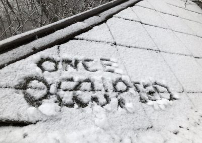 name in snow once occupied