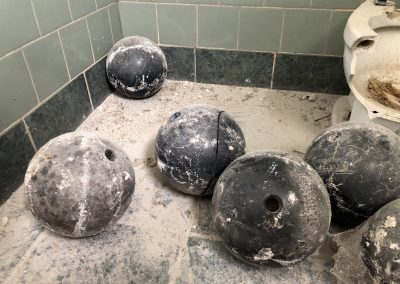 Bowlero Lanes Dayton Bowling Balls in Bathroom
