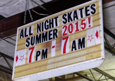 all night skates sign skateland