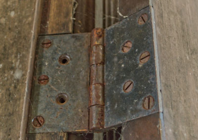 vintage 5 screw door hinge from old victorian house