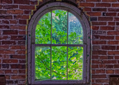 Abandoned Victorian Mansion in Ohio Rounded Window
