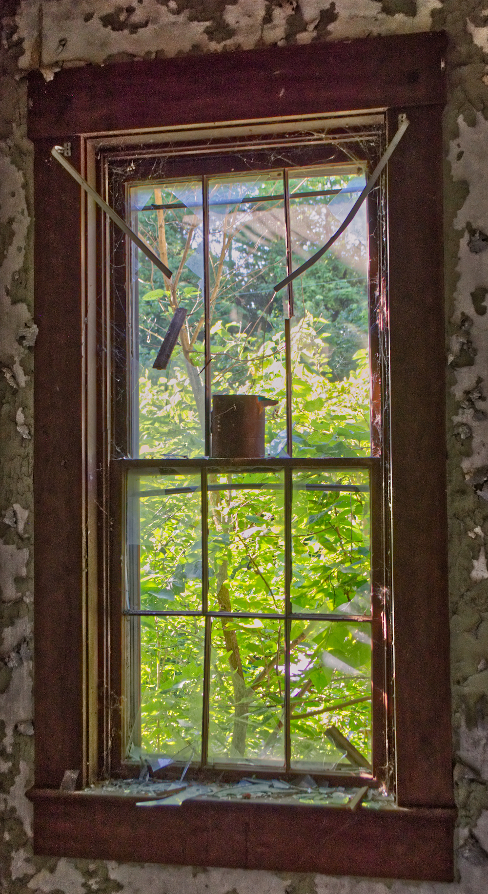 abandoned victorian mansion in ohio tall paint can window once