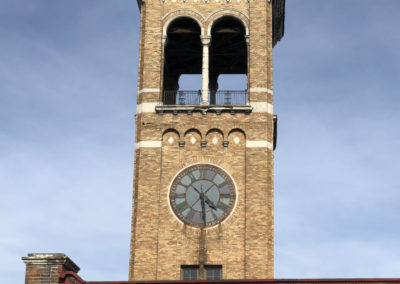 Abandoned Clock Tower in Ohio outside