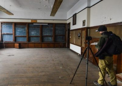 abandoned school chalk boards liftup