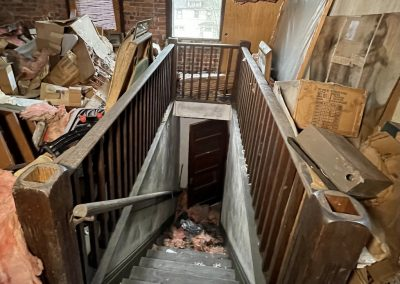 colonial revival house attic stairs