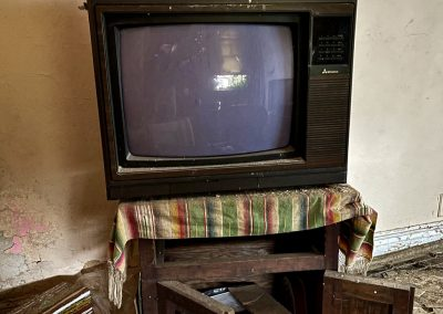 abandoned tv vcr old house