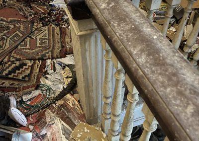 colonial revival stair railing