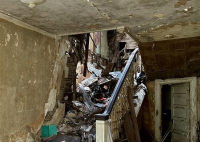 abandoned house ohio staircase