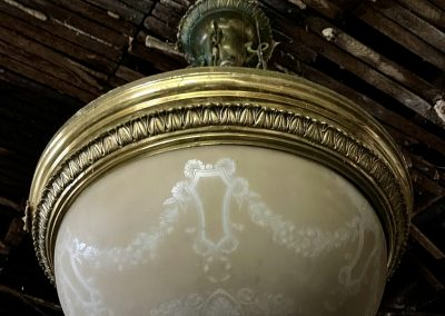early 1900s colonial light fixture dining room