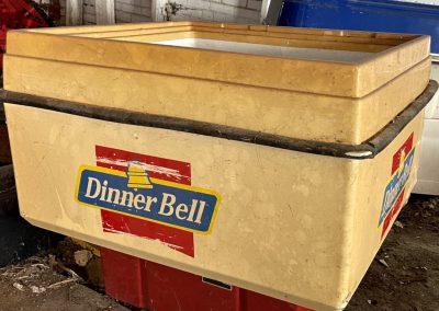 dinner bell cooler red blue abandoned ohio restaurant