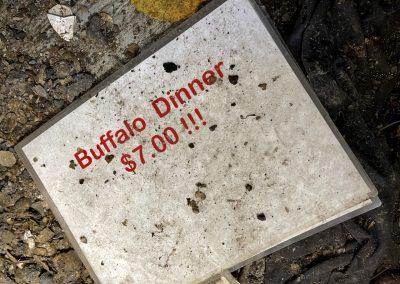 abandoned restaurant buffalo dinner sign