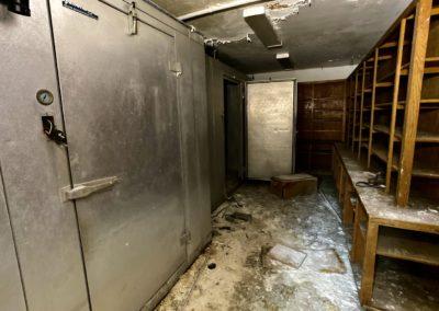 abandoned school freezer
