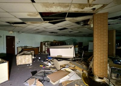 homeless camp inside charter school