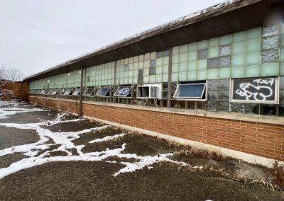 side of abandoned charter school in ohio