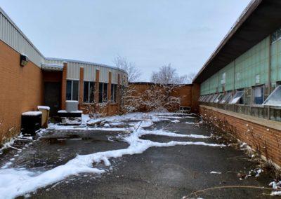 back of abandoned charter school in ohio