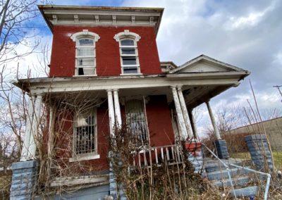 victorian style house abandoned front dayton