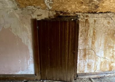 victorian style house abandoned attic door closed