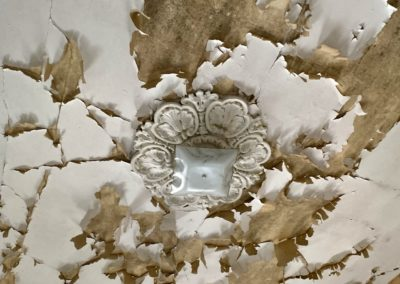 abandoned victorian home ceiling