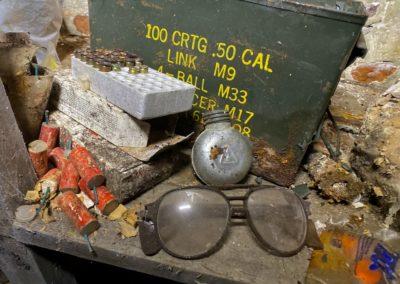 abandoned gun case bullets vintage