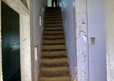 victorian style house abandoned staircase