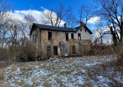abandoned ohio farmhouse backside brick