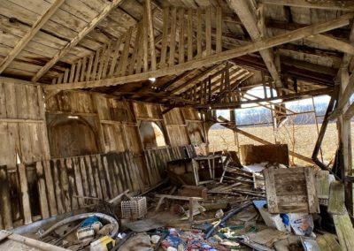 abandoned barn ohio inside