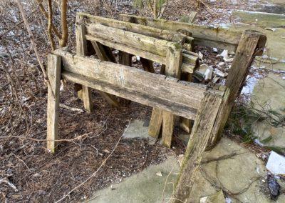 abandoned handmade sawhorses diy