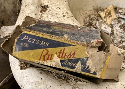 abandoned colonial house found bullet box peters rustless