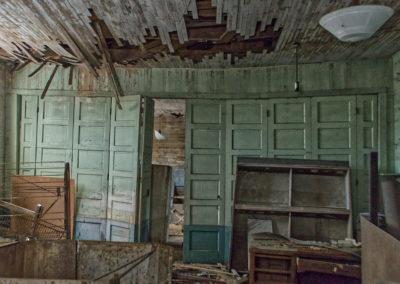 abandoned schoolhouse panel doors