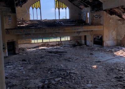 abandoned church sanctuary