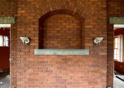 brick niche in a wall