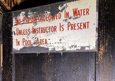 pool safety sign vintage