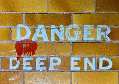 danger deep end sign pool