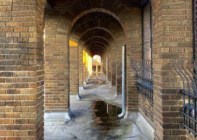 brick arches outside