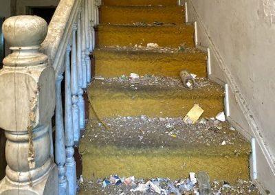 abandoned-victorian-house-white-staircase-orange-carpet