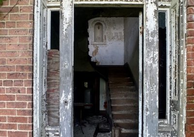 abandoned victorian mansion front door