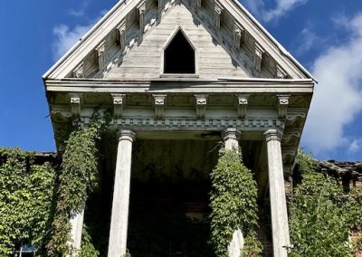 abandoned victorian mansion front porch