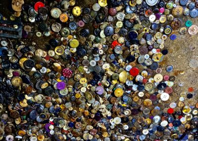 abandoned dry cleaner vintage buttons