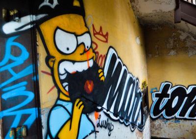 bart simpson graffiti detroit