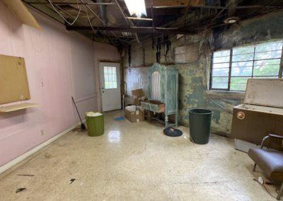 abandoned hair salon back room