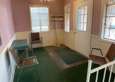 abandoned hair salon waiting room