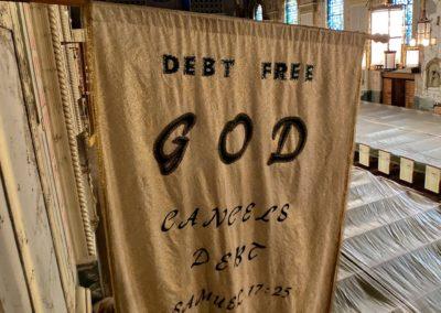debt free church flag