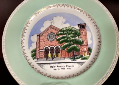 church painting on plate