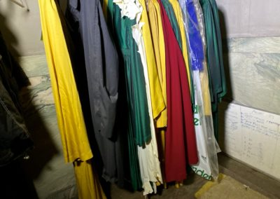 church robes hanging up
