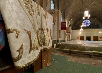 glory flag in church sanctuary