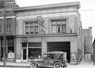 midget theater front vintage car dayton ohio